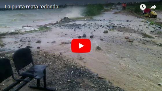 La Punta y Mata Redonda en alto riesgo de inundación por oleaje de el lago