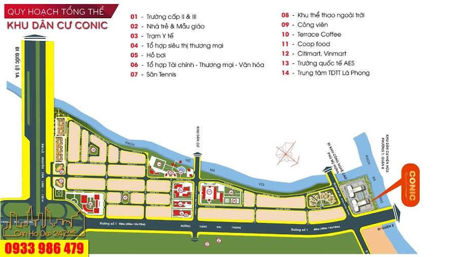 Tiện ích và cuộc sống an toàn tại Khu dân cư - Căn hộ Conic Riverside Quận 8