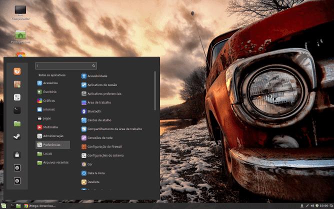 Linux Mint - Área de Trabalho
