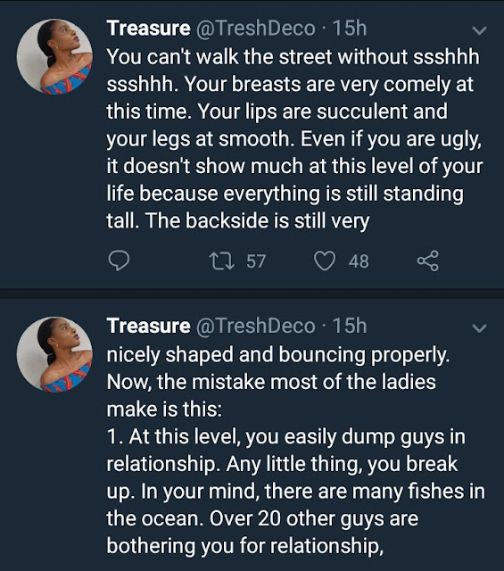 Nigerian lady courts controversy with her tweets about women who