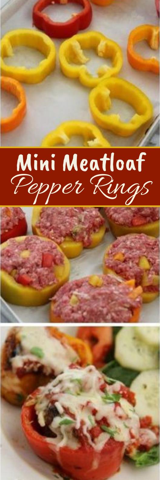 Mini Meatloaf Pepper Rings #keto #lowcarb