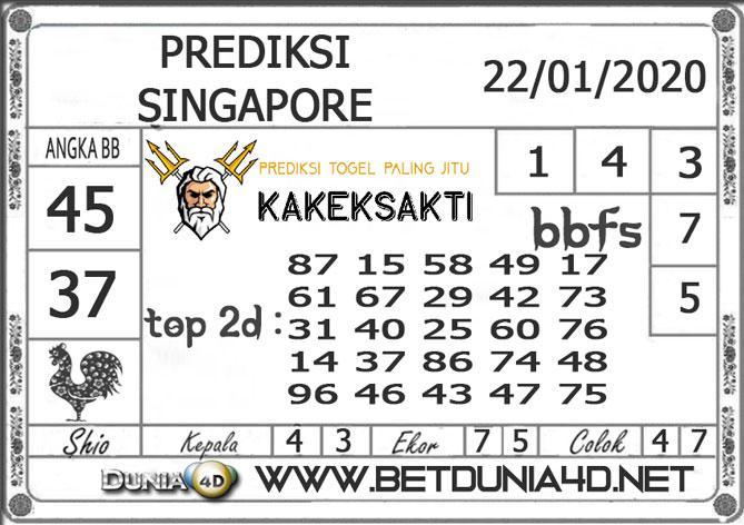 PREDIKSI TOGEL SINGAPORE DUNIA4D 22 JANUARI 2020