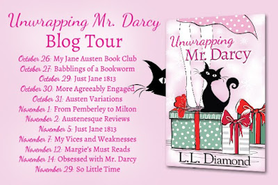 Blog Tour Stops for Unwrapping Mr Darcy by L L Diamond