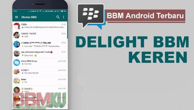 BBM DELIGHT V0.0.1 BBM V3.1.0.13 Apk Mod Terbaru