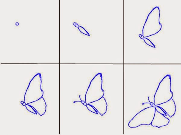 How to draw a beautiful butterfly in 6 simple steps