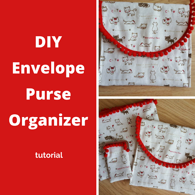 DIY envelope purse organizer tutorial