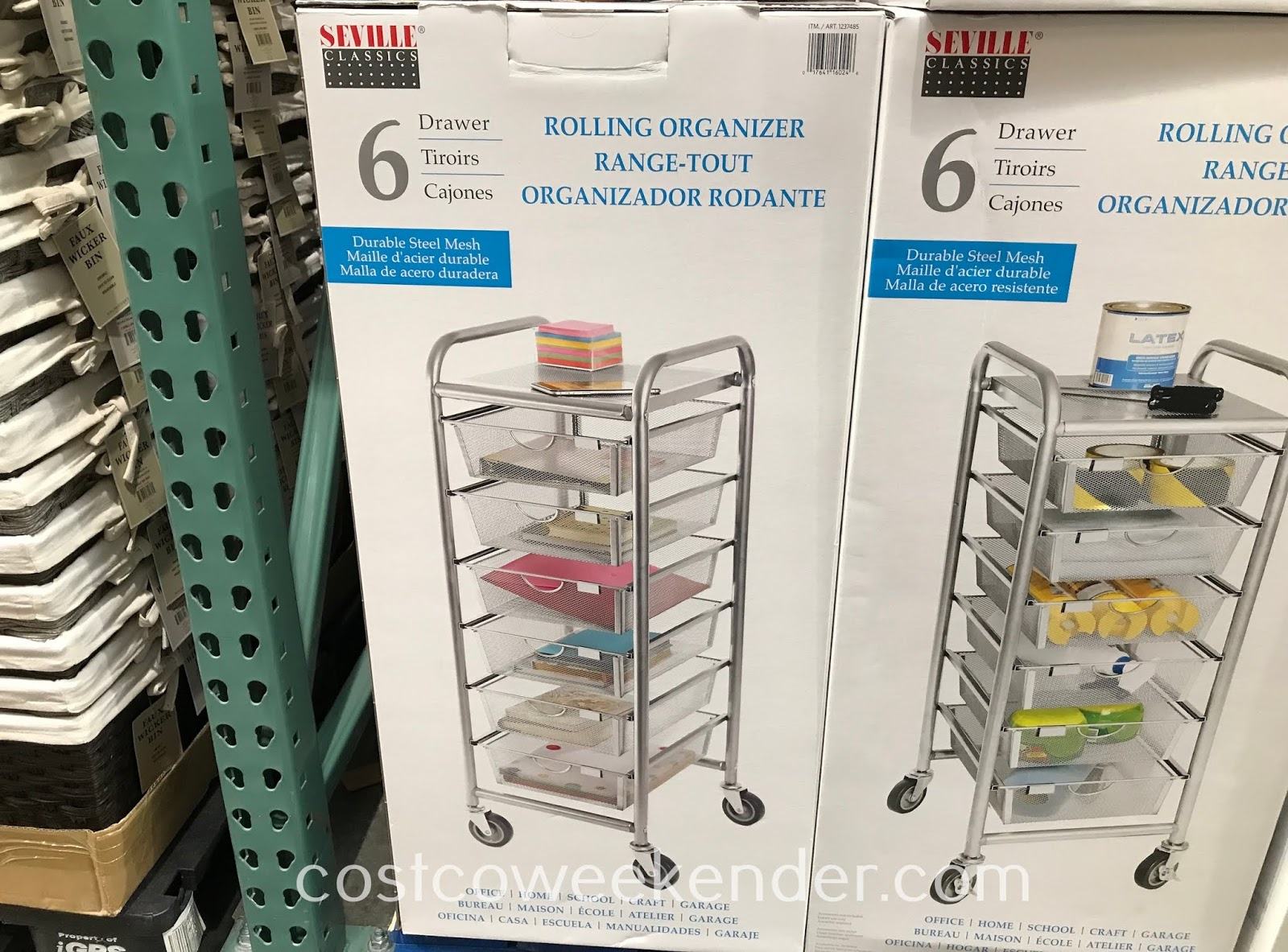 Get your home organized with the Seville Classics 6-Drawer Rolling Organizer
