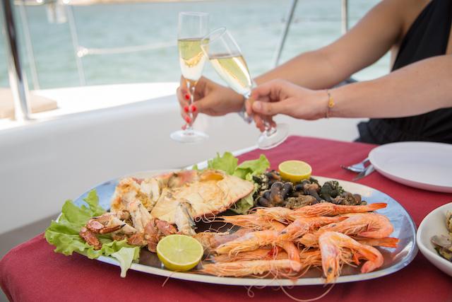 Jantar romântico a bordo em Lisboa