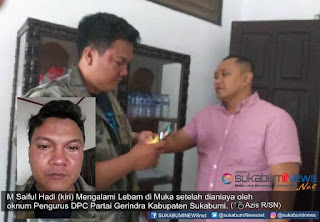 Hadi menceritakan, pemukulan terjadi di Kantor DPC Gerindra Kabupaten Sukabumi di Jalan Ahmad Sanusi, Ciseureuh, Kabupaten Sukabumi, sekitar pukul 14.30 WIB, Kamis (31/1/2019).