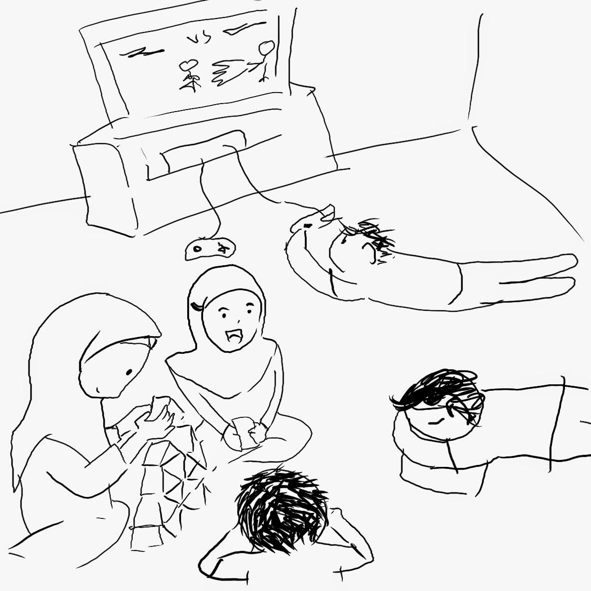 game , kartu, tiduran, kumpul keluarga