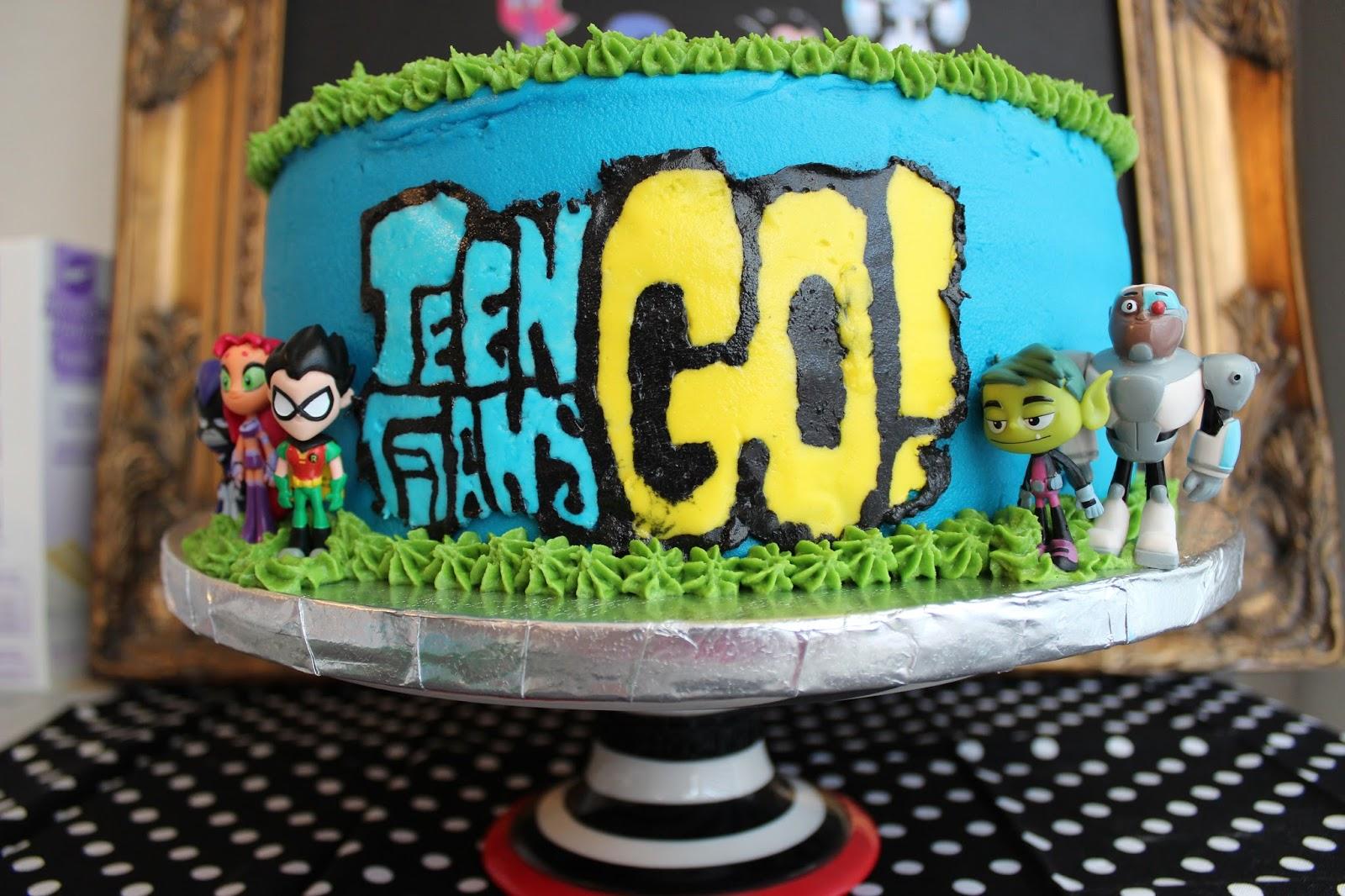 Birthday Cake Teen Titans