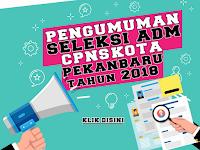Hasil Seleksi Administrasi CPNS 2018 Kota Pekanbaru