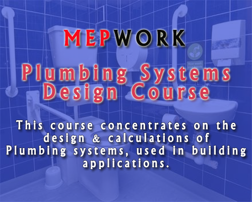 Download a Plumbing Systems Design Course for the design of cold and hot water distribution inside buildings.
