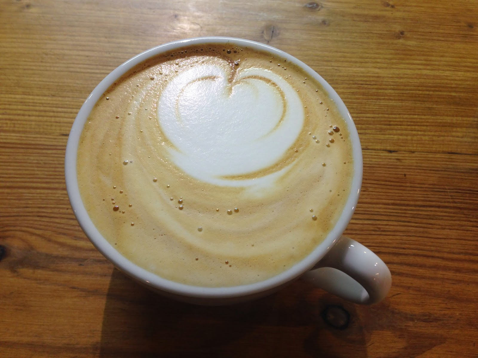 Small Batch Coffee Brighton Latte Art - Heart