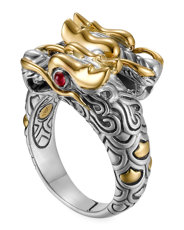 Kari LikeLikes: Gold & Silver Dragon Ring