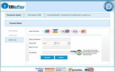 TDC Payment through Debit Card
