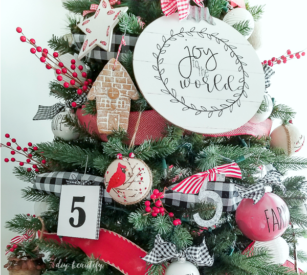 farmhouse christmas tree - Farmhouse Christmas Tree Decorations