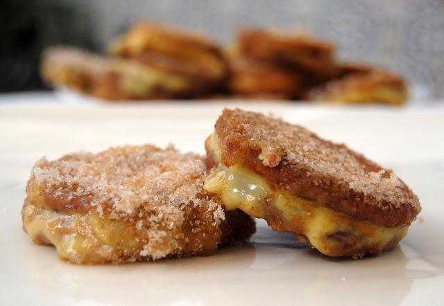 Galletas Fritas con Crema pastelera