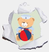 Ursinho Marinheiro com bola