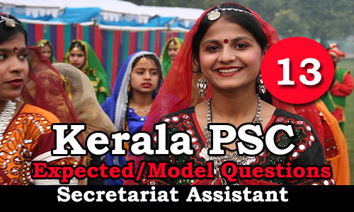 Kerala PSC Secretariat Assistant Expected Questions - 13