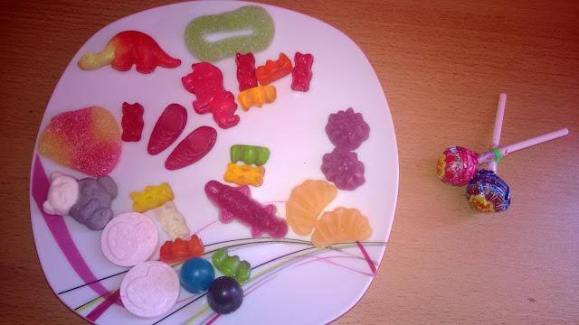 Verschiedene Gummi Produkte zum Essen