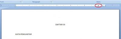 Cara Membuat Daftar Isi di Ms Word 2007