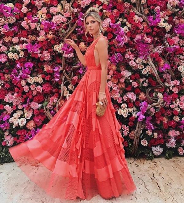 casamento marina ruy barbosa vestido coral