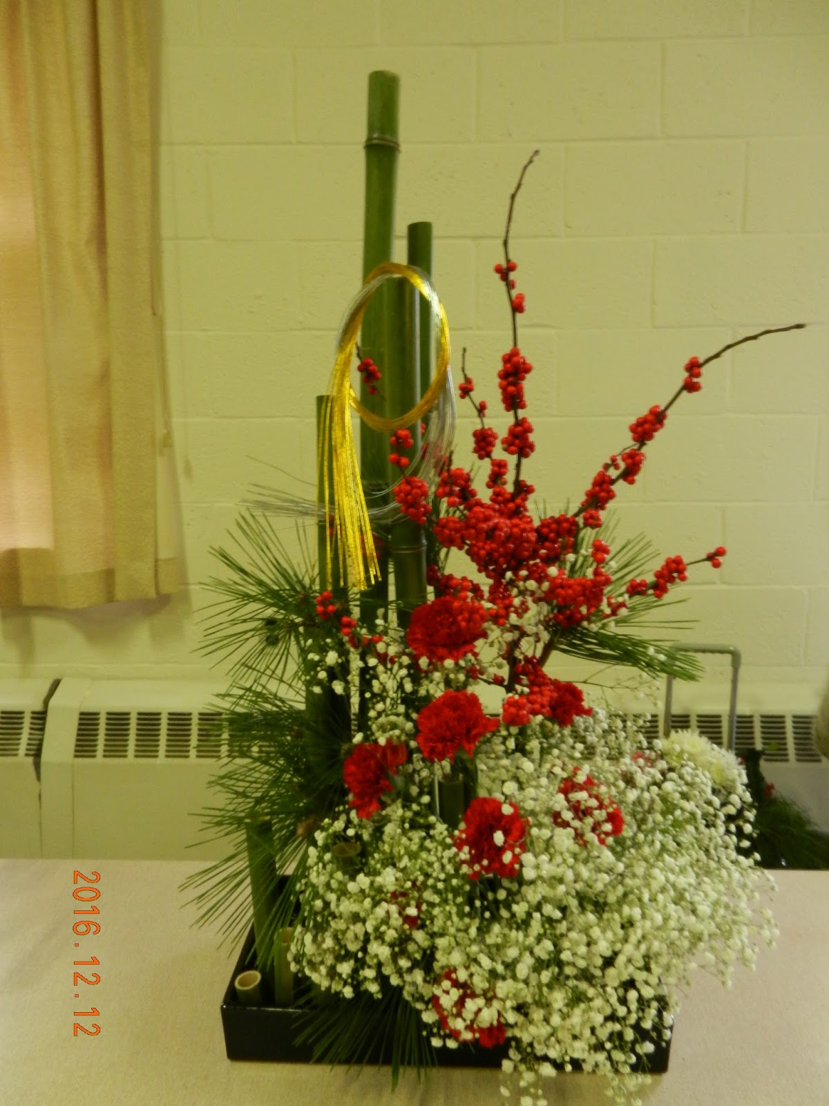 Orchids And Ikebana Holiday Arrangement For Japanese New Year