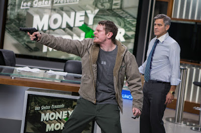 Jack O'Connell (Kyle Budwell) et Georges Clooney (Lee Gates) dans Money Monster de Jodie Foster