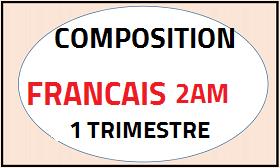 Devoir surveillé Français n 02 du 1er trimestre 2AM 2018 DOC