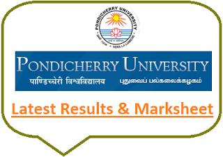 Pondicherry University Results Nov Dec 2019