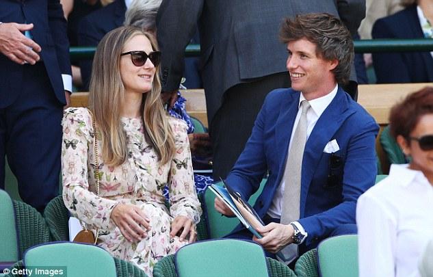 Eddie Redmayne e sua esposa Hannah Bagshawe durante a final de Wimbledon | Ordem da Fênix Brasileira