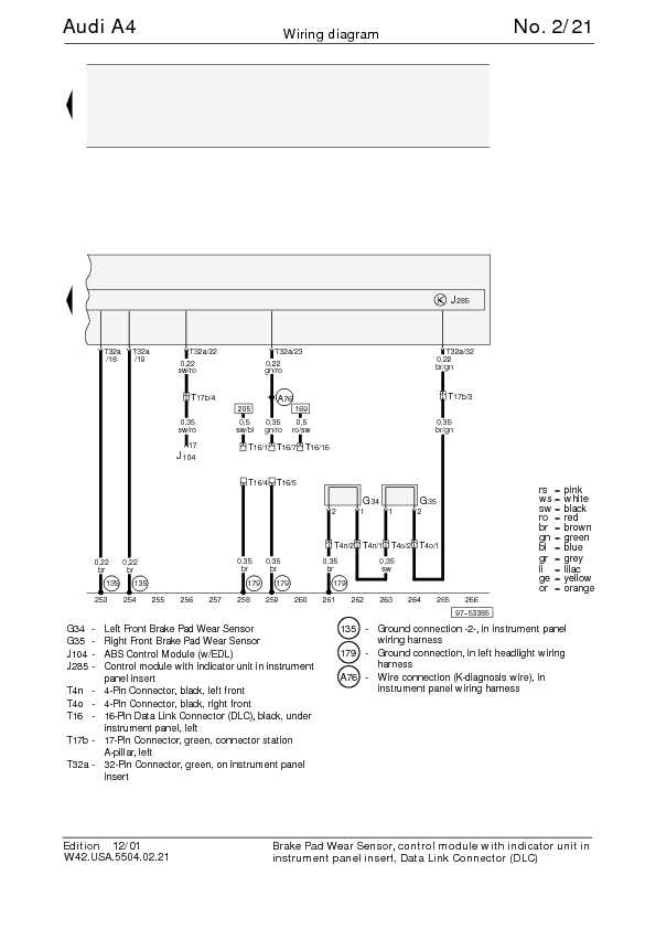 The Audi A4 Complete Wiring Diagrams | Schematic Wiring ...