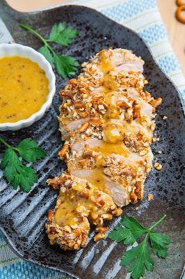 Honey Dijon Pretzel Chicken