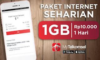 Cara Paket Internet Murah 1 GB Hanya Rp10 rb Dari Telkomsel