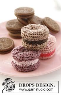 Macarons au crochet