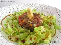 Ensalada de lentejas y verduritas en crudites