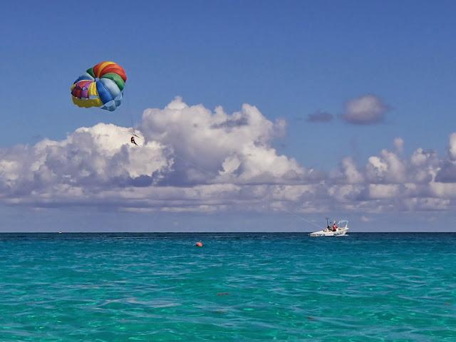 parasailing at Cabbage Beach
