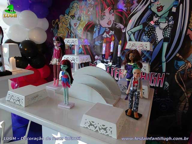 Decoração festa de aniversário Monster High - Mesa temática