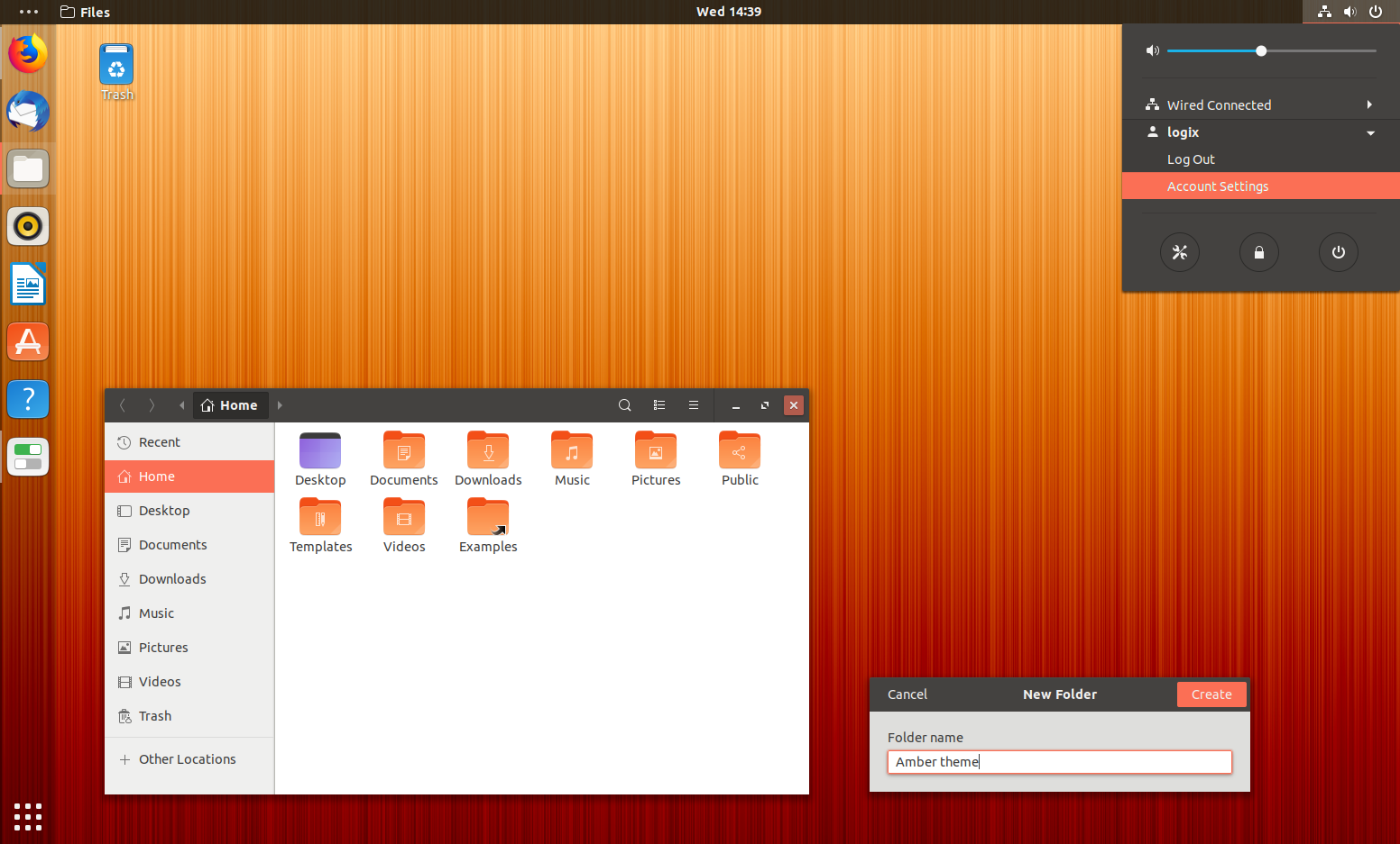 Amber Is A Cool Ambiance-Inspired Gtk / Gnome Shell Theme
