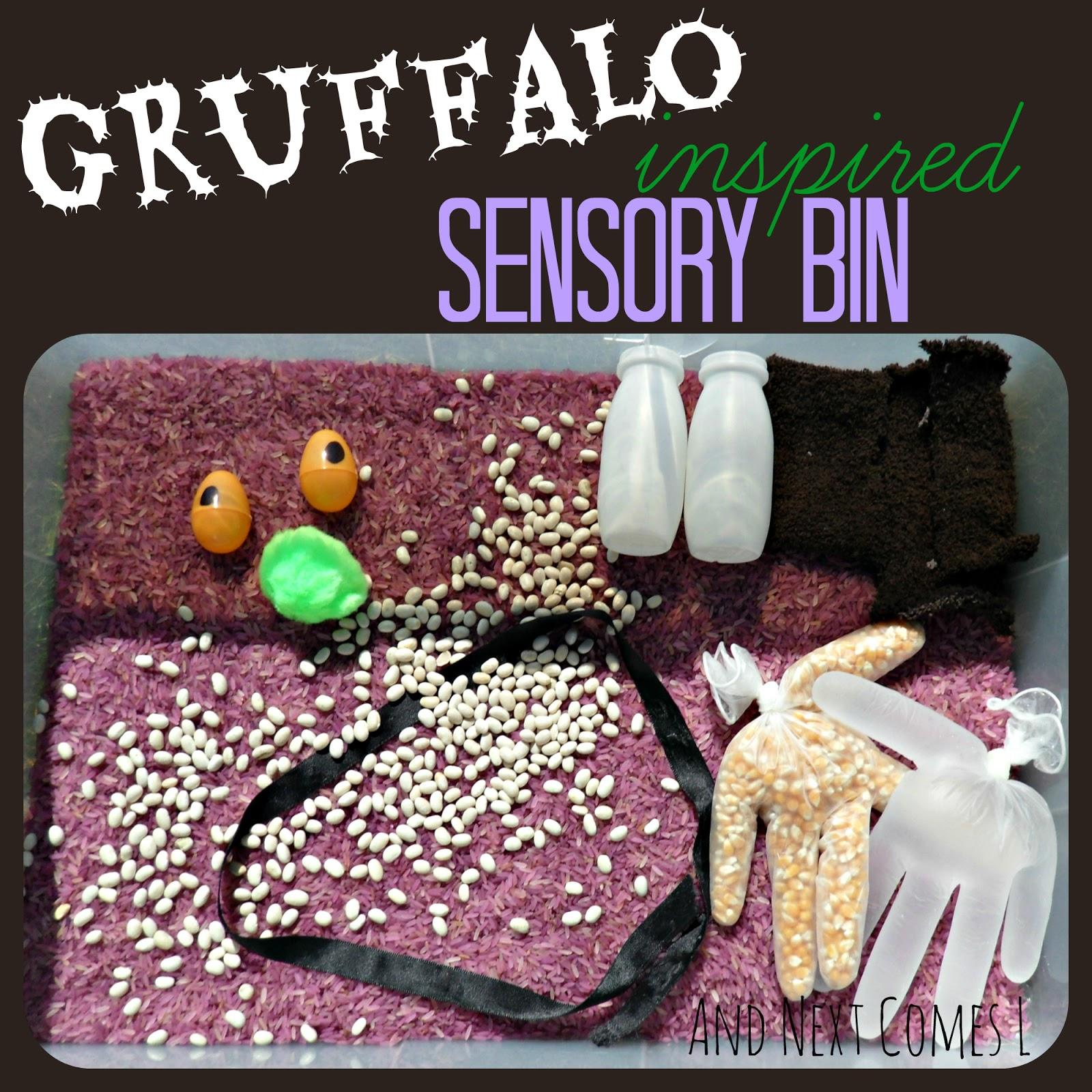 Gruffalo Inspired Sensory Bin And Next Comes L