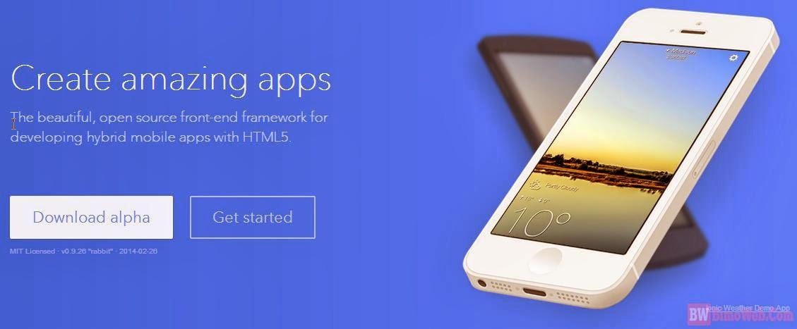 Ionic HTML5 Mobile App Framework