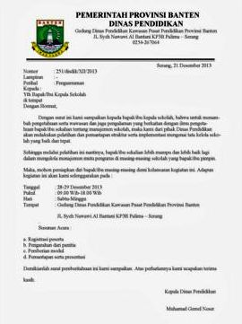 Contoh Surat Dinas Resmi Yang Baik Dan Benar Indarto