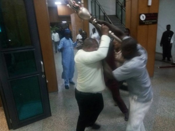 Suspended Senator Ovie Omo-Agege Storms Senate With Thugs,Steals Mace