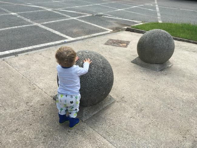 Caerleon-stood-by-huge-concrete-ball