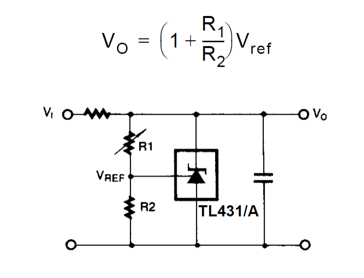 Explaining Programmable Shunt Regulator TL431, Datasheet