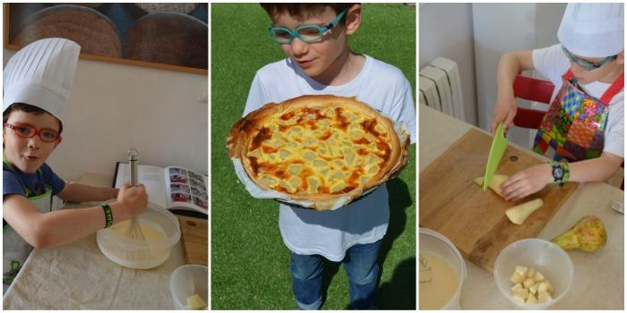 libro montessori Cocinando en familia, niños cocinando