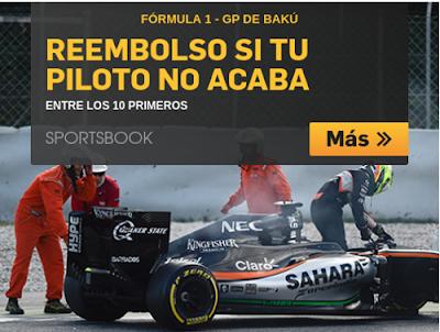 betfair bono 25 euros GP Baku Europa F1 19 junio 2016