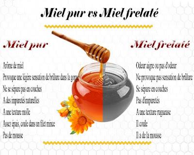 Différencier le miel pur à 100% et le miel frelaté et Comment le vérifier à la maison ?